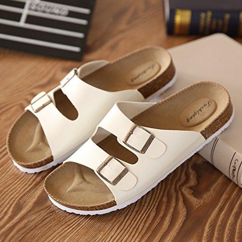 Xing Lin Sandales d'homme les amateurs de les chaussures de liège en été, usure Anti resbaladizo, Sandales de Plage, Chaussures, Sandales, Sandales, Casual Femmes de remorque blanc
