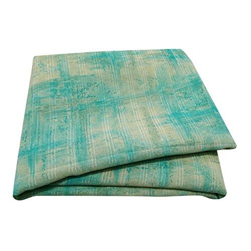 Blaue Saree (PEEGLI Indisch Jahrgang Blau Saree Beiläufig Frau Bollywood Sari Abstrakt Kleid Georgette Mischung DIY Kunst Stoff 5 Yard)