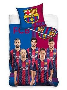 Parure de lit réversible FC Barcelone - Messi & Neymar