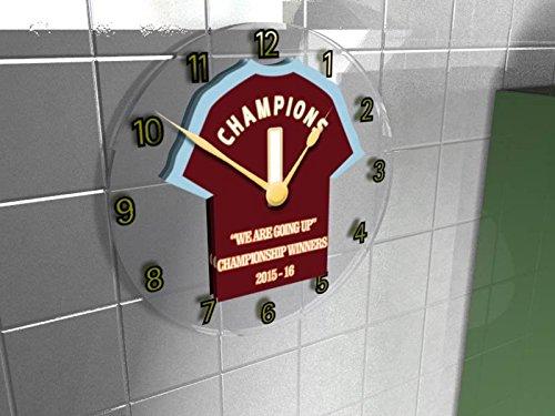 Burnley FC Football Club-Cielo Bet Champions League vincitori 2015/16Commemorative-Orologio da parete