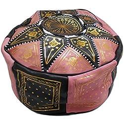 Puff Puff Puf Puf Marruecos Marroquí De Cuero Genuino cuero Arabo étnico reposapiés OTOMANO Handmade 2410181209