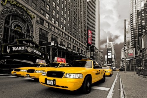 poster-geant-xxl-photo-mural-new-york-901-161x115cm-1-partie-usa-hard-rock-cafe-times-square-taxis-j