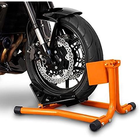 ConStands Blocca Ruota Cavalletto Moto anteriore Easy Arancione Harley Davidson Dyna Street Bob (FXDB)