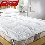 Best Feather Mattress Toppers - Linenwalas Microfiber Mattress Padding/Topper for 5 Star Hotel Review