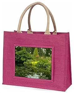 Advanta Garten Teich Große Einkaufstasche Weihnachten Geschenk Idee, Jute, Rosa, 42x 34,5x 2cm