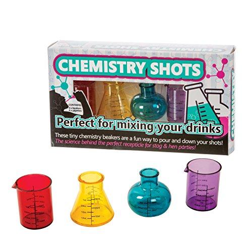 Unbekannt Funtime Gifts Kunststoff Gläser Chemie Shots, Mehrfarbig, 6,2x 25x 14cm - Alkohol 2 Unzen Flüssigkeit