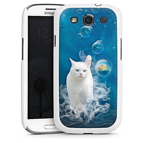 DeinDesign Hülle kompatibel mit Samsung Galaxy S3 Handyhülle Case Cat Katze Fisch