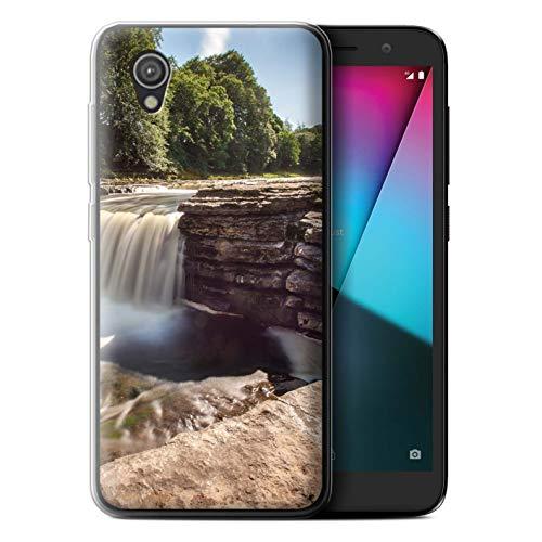 eSwish Gel TPU Hülle/Case für Vodafone Smart E9 / Fluss Muster/Wasserfälle Kollektion -