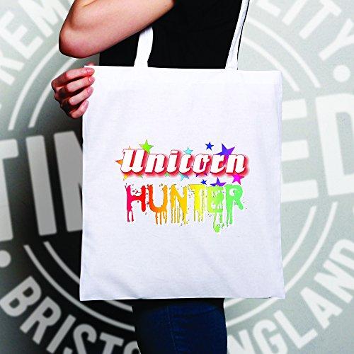 Unicorno Cacciatore Arcobaleno Fantasia Magia Stampa Design Novità Nerd Borsa Per Il Trasporto Naturale