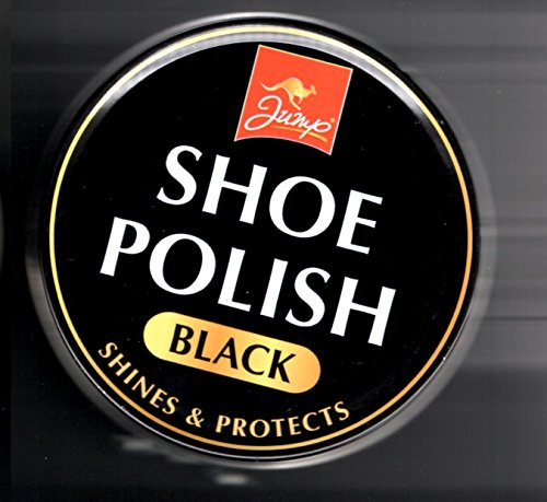Black Shoe Polish Tin 80g Shines and Protects Fast Postage Brand New