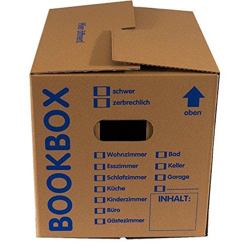 10 Stück Bücherkartons Profi Qualität thumbnail
