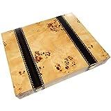 Trino Burl Wood Chess Piece Storage Case...