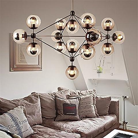 Generico TJDlight Lusso semplice lampadari di vetro testa delle sfere di colore cognac