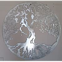 Árbol de la Vida, decoración de Pared de Metal, Color Plateado