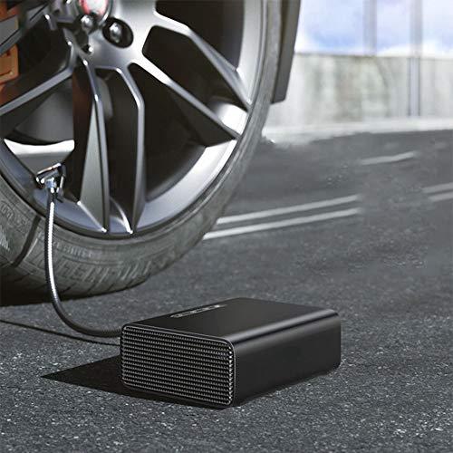 ZQQFR 12V Mini Auto Luftverdichter-Gummireifen aufblasbare Pumpe für Auto tragbarer Inflator Pumpe Elektro Intelligentes Fahrzeug-Gummireifen,Schwarz