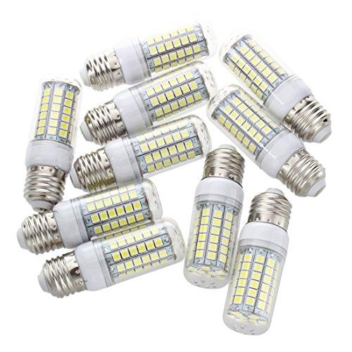 SODIAL(R) 10x E27 8W 69 LED 5050 SMD Lampe Leuchtmittel Spot Strahler Birne AC 220V Weiss