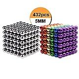 Kuiji Puzzle de Bolas Magneticas, Puzle de Bolas de 216 Bolas Magnéticas 5MM (6 Colores+ Plata)