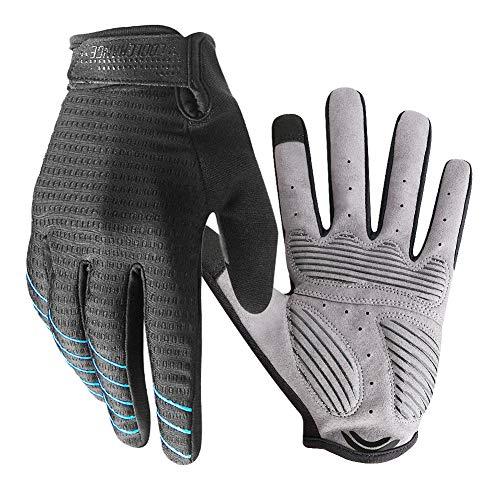 Radsport Handschuhe Herren Damen Touchscreen, Fahrradhandschuhe Sommer Atmungsaktiver rutschfeste für Radsport MTB Mountain Break Trekkingrad Rennrad Fahrradfahren (SCHWARZ, L)