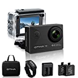 OTHA Action Cam 4K, Sports Action Camera WiFi Full HD 16MP, Fotocamera Subacquea 4K Impermeabile WebCamera 170°Grandangolare 2.0' Schermo LCD con Vari Accessori Kit - Nero