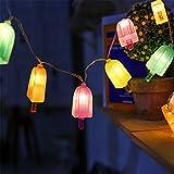 3M 20 LED Eis Lichterkette Batteriebetriebene Weihnachtliche mit Lichterkette Warmweiß - Transparente Stern für Party Deko, Garten Deko, Weihnachten, Hotel, Fest Deko,Hochzeit, Geburtstag, Hockzeit