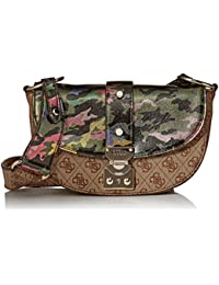 Guess - Florence, Bolsos bandolera Mujer, Multicolor (Camouflage/Cmo), 20.5x13x8.5 cm (W x H L)