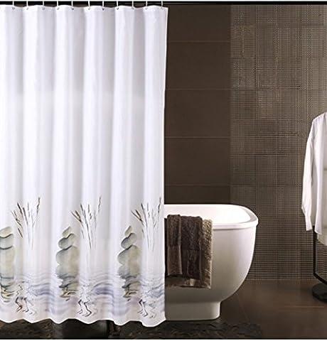 Rideau de douche imperméable Eviter la moisissure Matériau en polyester Rideaux de douche 120x180cm, 300x200cm ( taille : 120*180cm )