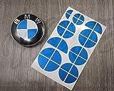 Blau Metallic BMW Halb Abzeichen Emblem Überzug Aufkleber Haube Felgen für Alle BMW