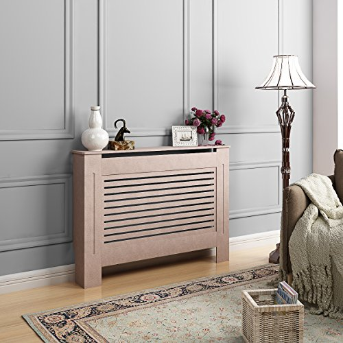 Keinode Cache-radiateur Classique Design Traditionnel Étagère en Bois MDF Blanc Grand Meuble, Type A (1115mm x 815mm x 190mm)