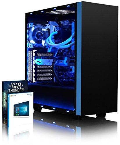 VIBOX Voxel RSR780-28 Gaming PC Computer mit War Thunder Spiel Bundle, Windows 10 OS (3,7GHz AMD Ryzen 8-Core Prozessor, ASUS Radeon RX 580 Grafikkarte, 16Go DDR4 2400MHz RAM, 480GB SSD, 2TB HDD)
