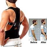 Aptoco Adjustable Magnetic Posture Corrector Back Shoulder Support Lumbar Waist Belt for Men and Women - Comfortable, Pain Relief, Improve Posture