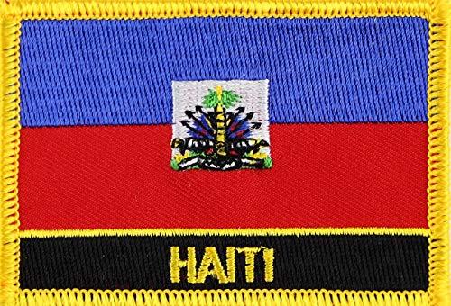 Haiti Yantec Flaggenpatch mit Ländername (Patch Haiti Fahne)