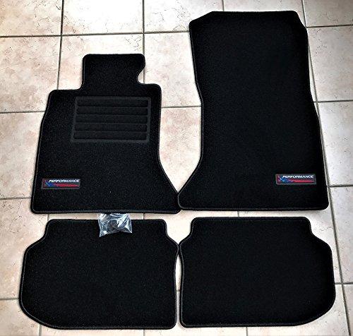 Passform Fußmatten 3060 F10 L10 Performance Logo Passform 4 teilig Fahrzeugspezifisch Schwarz