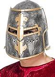 Smiffys Unisex Mittelalterlicher Ritter Helm, One Size, Silber, 26570