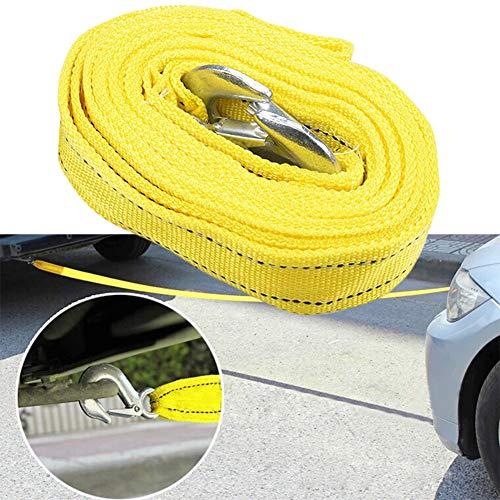 Abschleppseil, 4 m, 5 Tonnen Bruchkapazität, Schwerlast-Abschleppgurt, Notfallverwendung zum Ziehen von Auto -