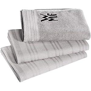 WMF Küchenhandtuch-Set, 3-teilig, Handtuch, Geschirrhandtuch, Baumwolle