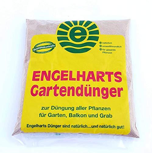 1 kg Engelharts Gartendünger: organischer Dünger | Naturdünger | Universaler Pflanzendünger | NPK Langzeitdünger | Universaldünger | Dünger mit Hornmehl