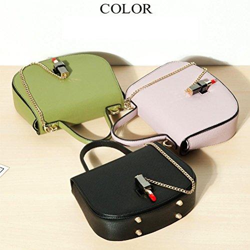 Frauen Schultertasche PU alle Jahreszeiten Casual Outdoor Square Zipper schwarz grün pink grün