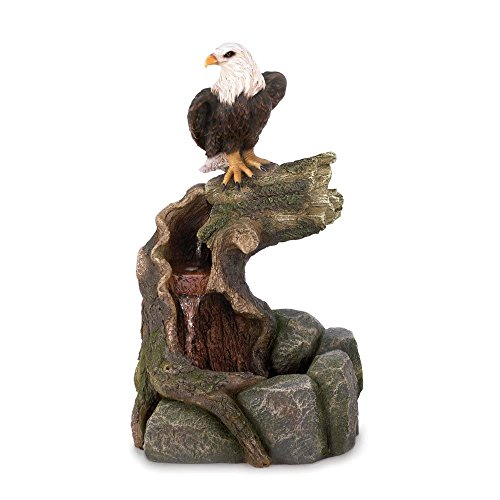 New Majestic Bald Eagle Garten Wasser Brunnen Country Wester Rasen Dekoration (Pulver-brunnen)