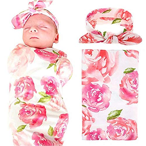 Neugeborenes Baby Wickeldecke Stirnband Set Soft Infant Schlafsack Wickeldecke mit Cute Bowknot Baby-Schlafdecke (Color : (Pod Baby Kostüm)