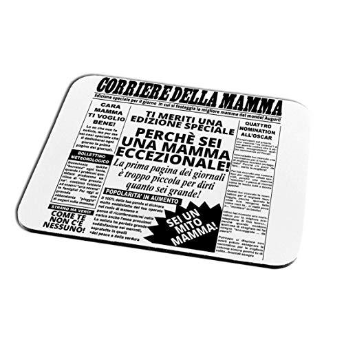 quickgadget Idea Regalo Tappetino Mouse Pad Festa della Mamma, Compleanno, Corriere della Mamma