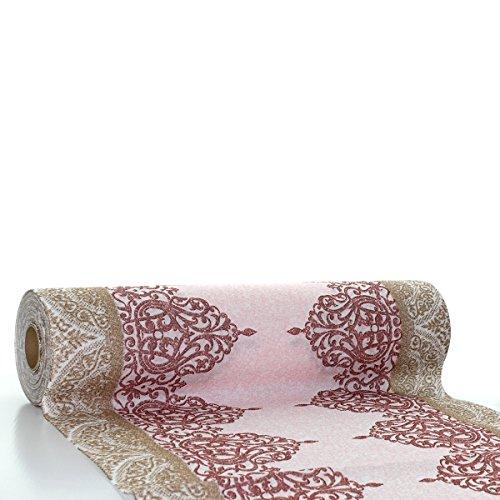 �ufer Madrid | Linclass® Airlaid Tischläufer 40cm x 24m | Tischdecken-Rolle stoffähnlich | Einmal-Tischdecke für Hochzeit & Partys Bordeaux ()