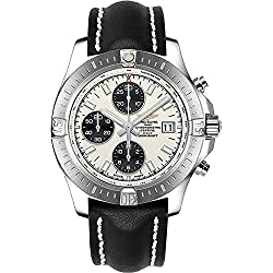 Breitling Men's Colt Leather Band Steel Case Automatic Watch A1338811/G804