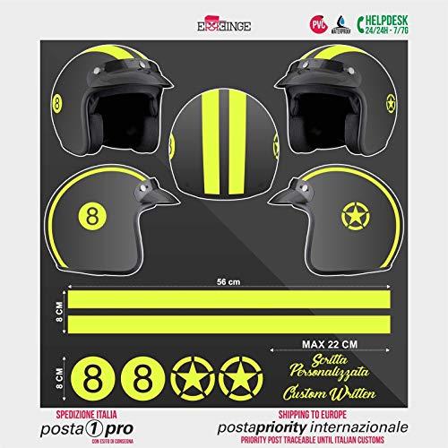 SUPERSTICKI Helm Aufkleber Set 8 Gelb Racing Streifen Motorrad Bike Motorcycle Aufkleber Bike Auto Racing Tuning aus Hochleistungsfolie Aufkleber Autoaufkleber Tuningaufkleber Hochleistungs - Marken-streifen