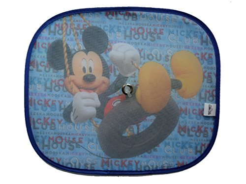 Image of XtremeAuto® Mickey Mouse Clubhouse Side Car Sunshade X2 - Complete with XtremeAuto Sticker