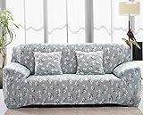 Sofa für 2-Sitzer-Sofa Schonbezug Stretch Elastic Pet Dog Polyester-Couch Displayschutzfolie-Soft Couch Cover Floral Print Bettüberwurf, blume, 2-Sitzer