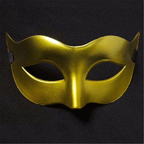Mens Maskerade Maske Halloween Weihnachten griechische Party Maske, Karnevals Maske, Golden