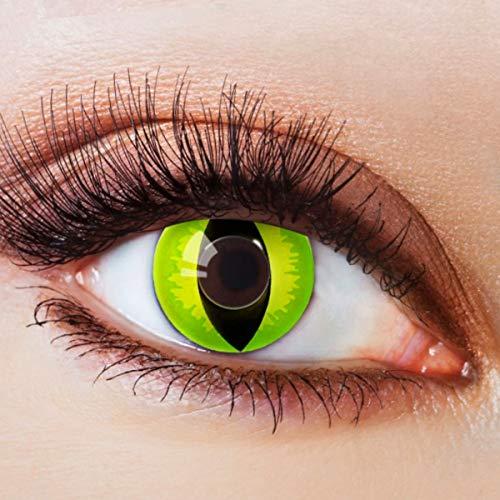 Farbige Kontaktlinsen Grün Ohne Stärke Grüne Linsen Halloween Karneval Fasching Cosplay Kostüm...