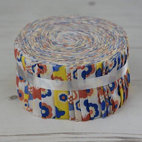 Flower Fairies gelb ff-fj87y Jelly Roll 40Streifen Craft Patchwork Quilting 100% Baumwolle