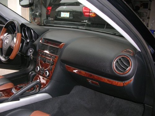 Mazda RX8 Rx8 Rx 8 Innen Burl Wood Dash Trim Kit Set 2004 2005 2006 2007 2008 8 Dash Kit