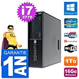 HP PC Workstation Z220 SFF Core i7-3770 RAM 16Go Disque Dur 1To Windows 10 WiFi...